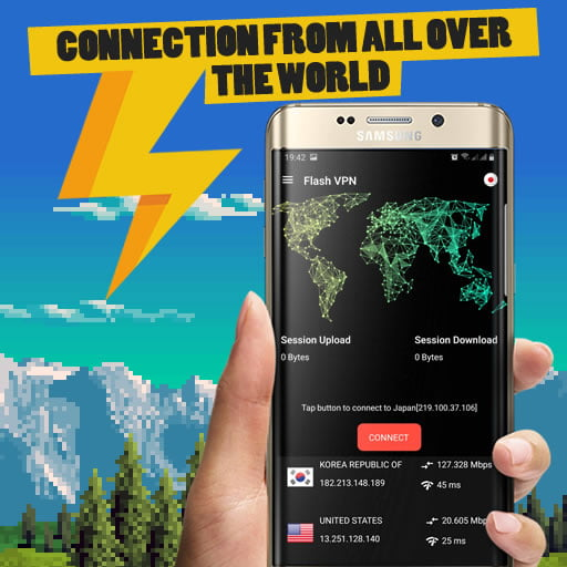 Android App Flash VPN - Fast and Secure Connection